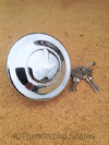 "Fuel Tank Cap,  Locking Type , 2-1/2"", Triumph, BSA, Chrome, UK Made."